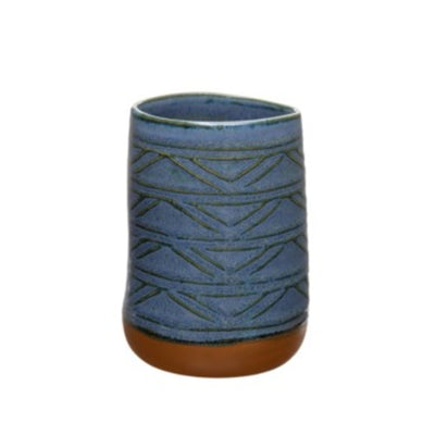 Blue traditional Aztec Midnight Mug handmade