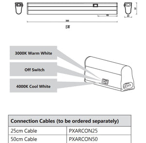 AAROW 3W Led Under Cabinet Light - 220mm