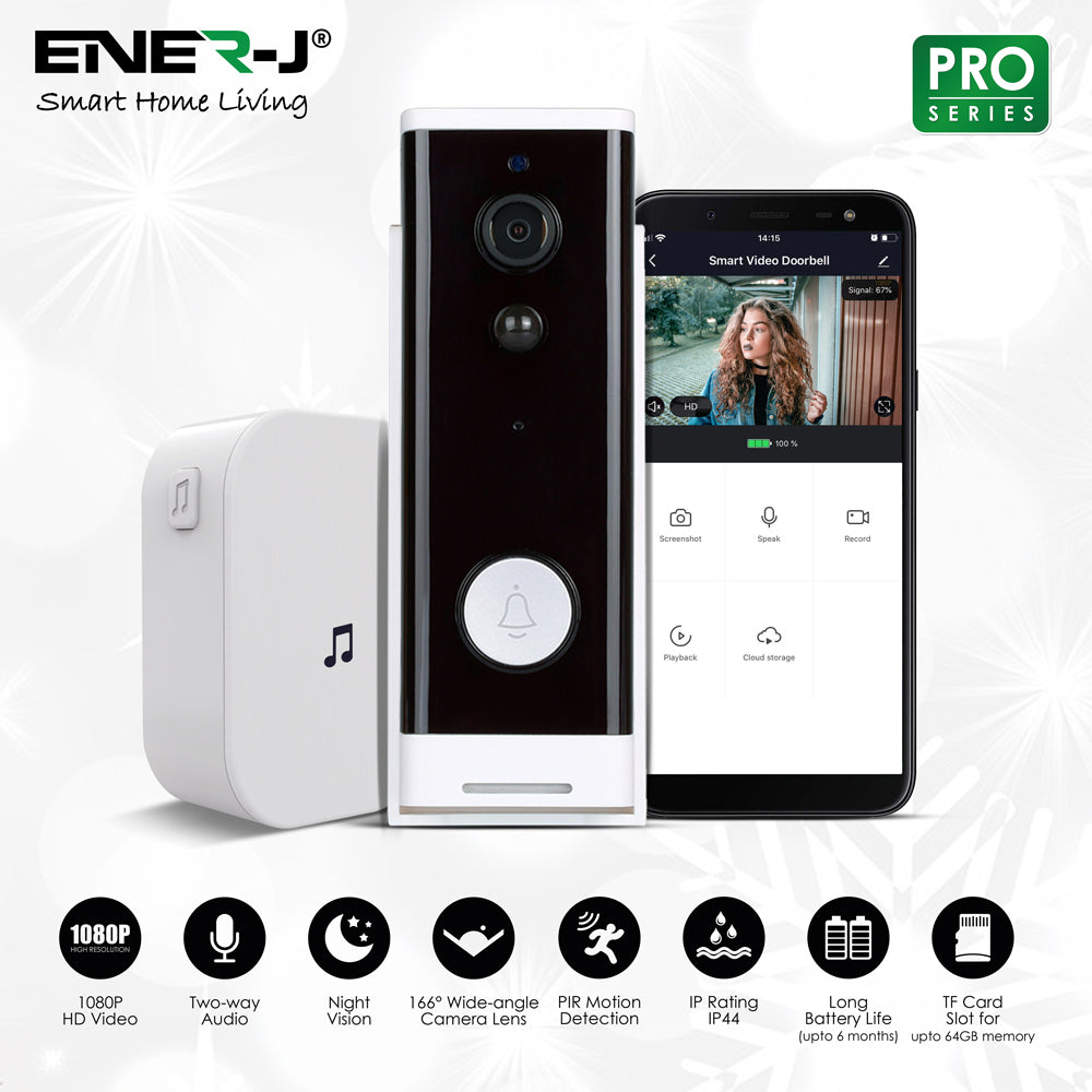 Smart Wi-Fi Video Doorbell (with Chime)
