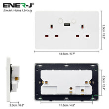Load image into Gallery viewer, Smart WiFi Double Socket With USB