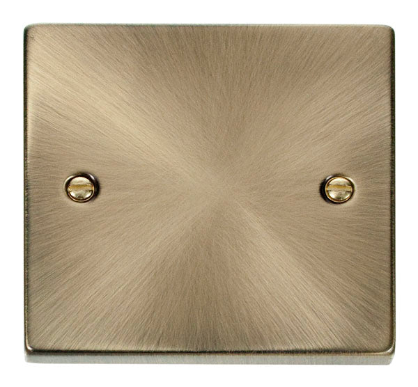 Deco Antique Brass - 1 Gang Blank Plate