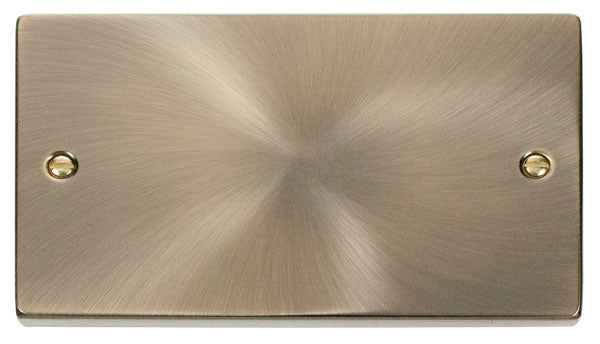 Deco Antique Brass - 2 Gang Blank Plate
