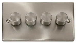 Deco Satin Chrome - 4 Gang Dimmer Switch