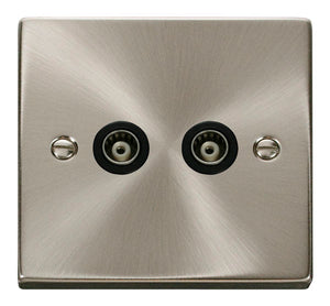 Deco Satin Chrome - Twin Satellite Socket
