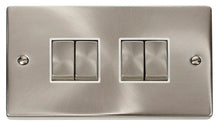 Load image into Gallery viewer, Deco Satin Chrome - 4 Gang Switch