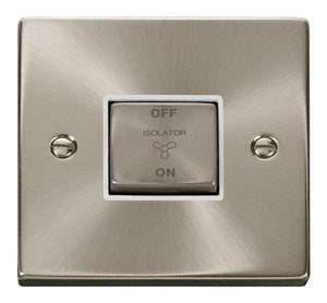 Deco Satin Chrome - Fan Isolator Switch