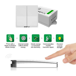 2 Gang Wireless Dimmable Switch