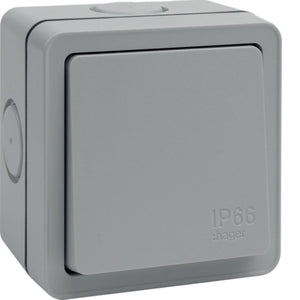 Hager - Outdoor 1 Gang Switch IP66