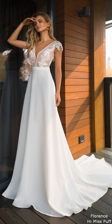 2020 Best Beautiful Lace 80S Wedding Dress