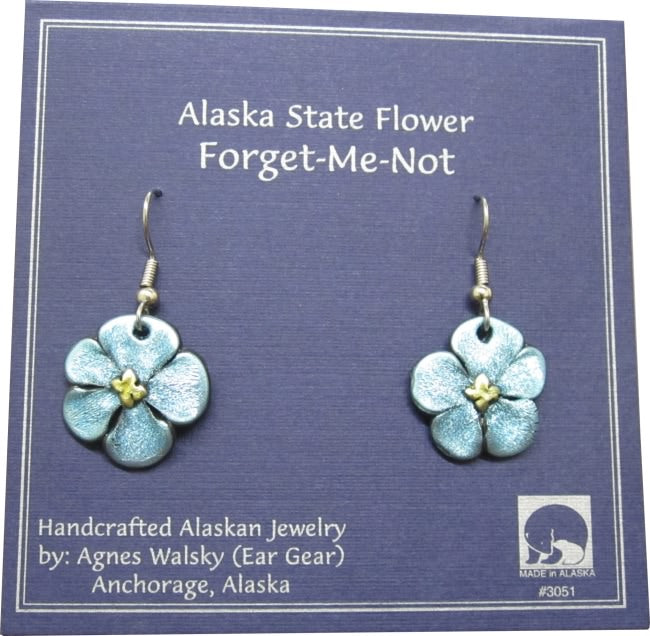 Large Forget-Me-Not Dangle Earrings