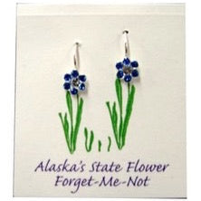 Forget-Me-Not Swarovski Crystal French Wire Earrings