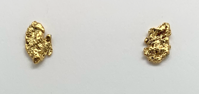 Gold Nugget Earrings