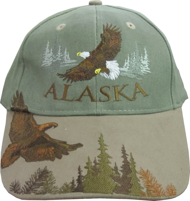 Sage & Brown Flying Eagle Overlap Cap