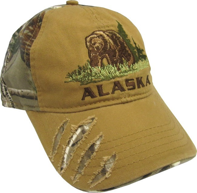 Realtree Camo Grizzly Bear Scratch Hat