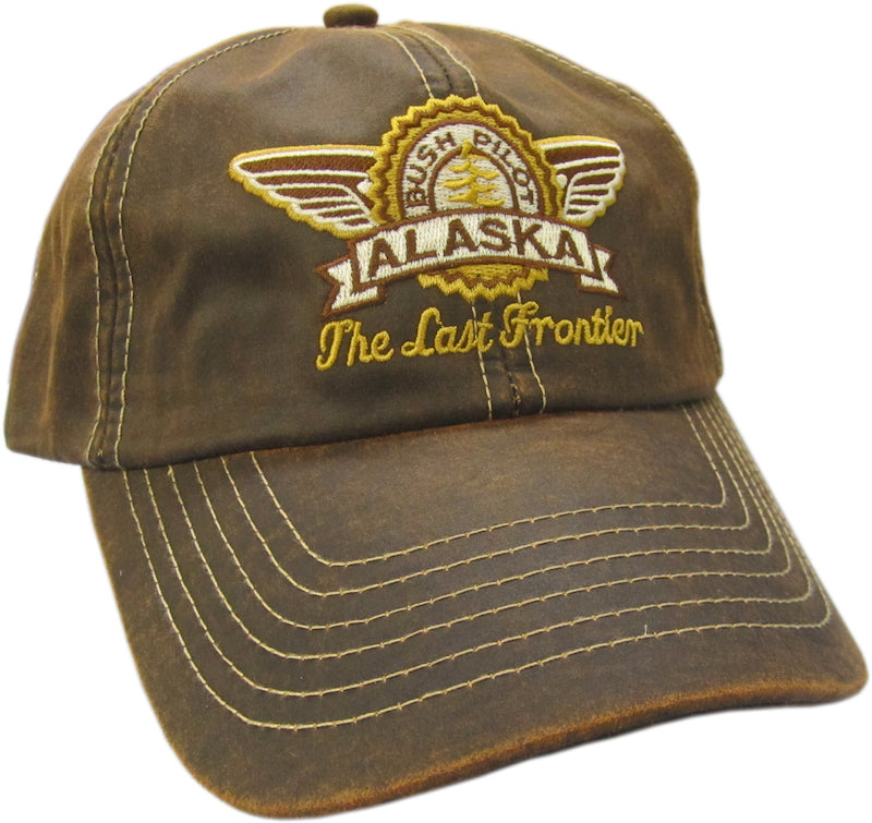 Bush Pilot Alaska Embroidered Oilskin Baseball Hat