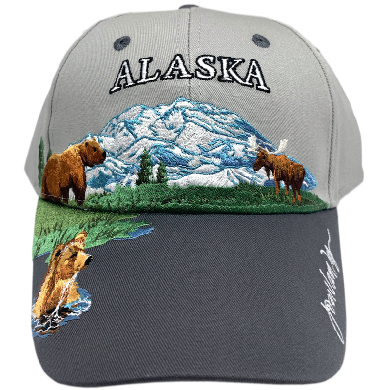 Scenic Wildlife Alaska Baseball Hat