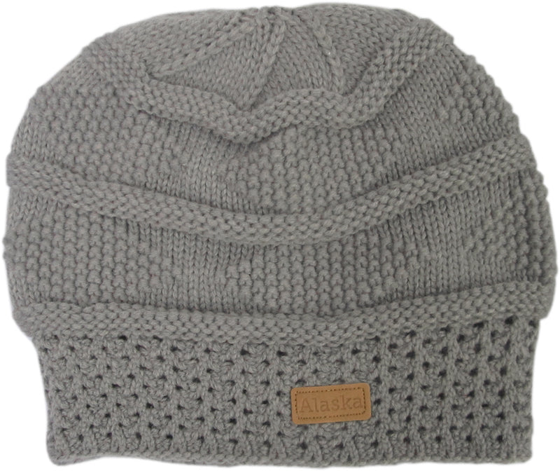 Horizontal Bands Knit Alaska Hat