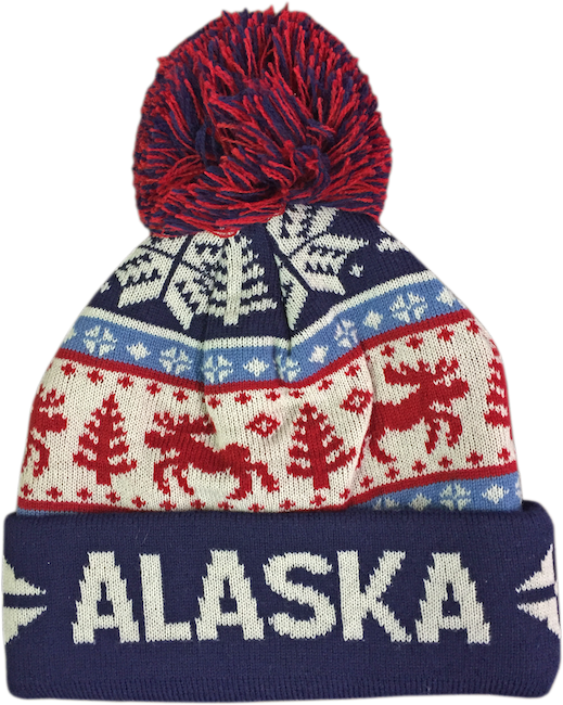 Moose & Tree Fair Isle Alaska Knit Hat