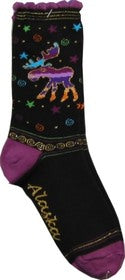 Whimsical Moose Socks