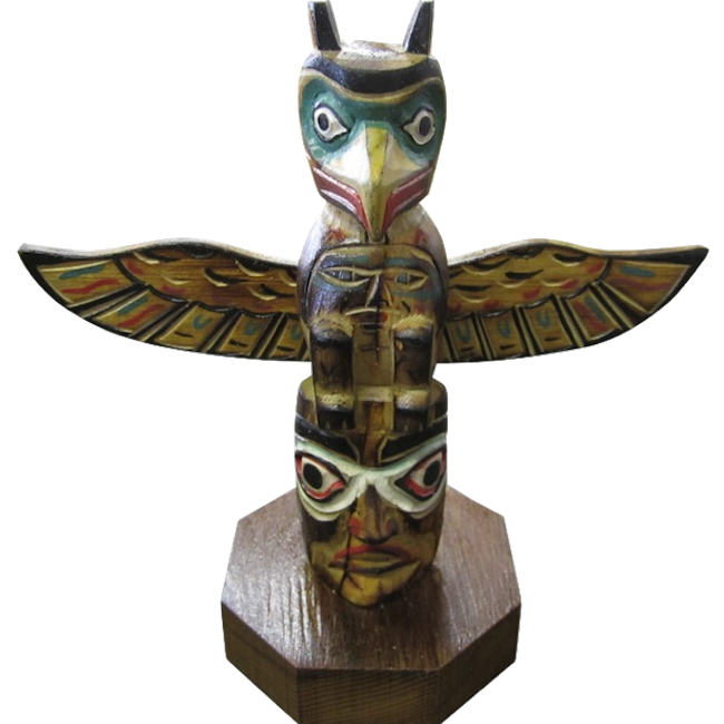 Eagle Mask Totem Pole