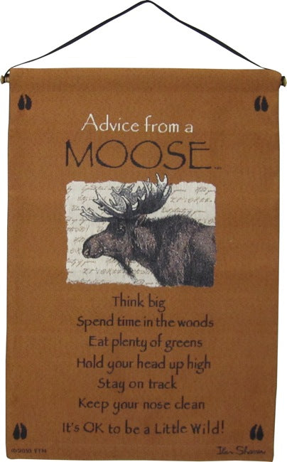 Advice From A Moose Wall Hanging
