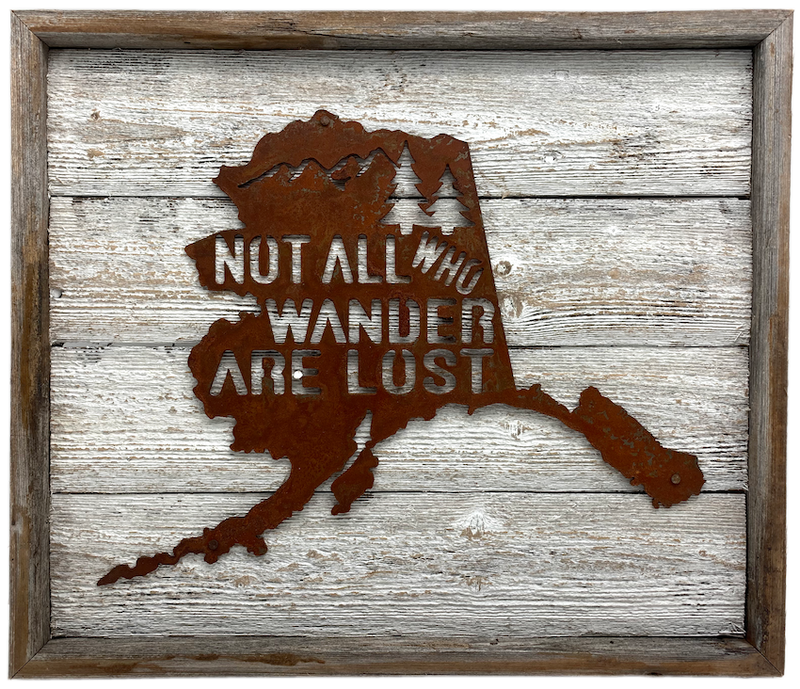Not All Who Wander Framed AK Map