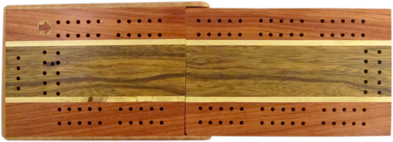 Wooden Travel Cribbage Board with Case