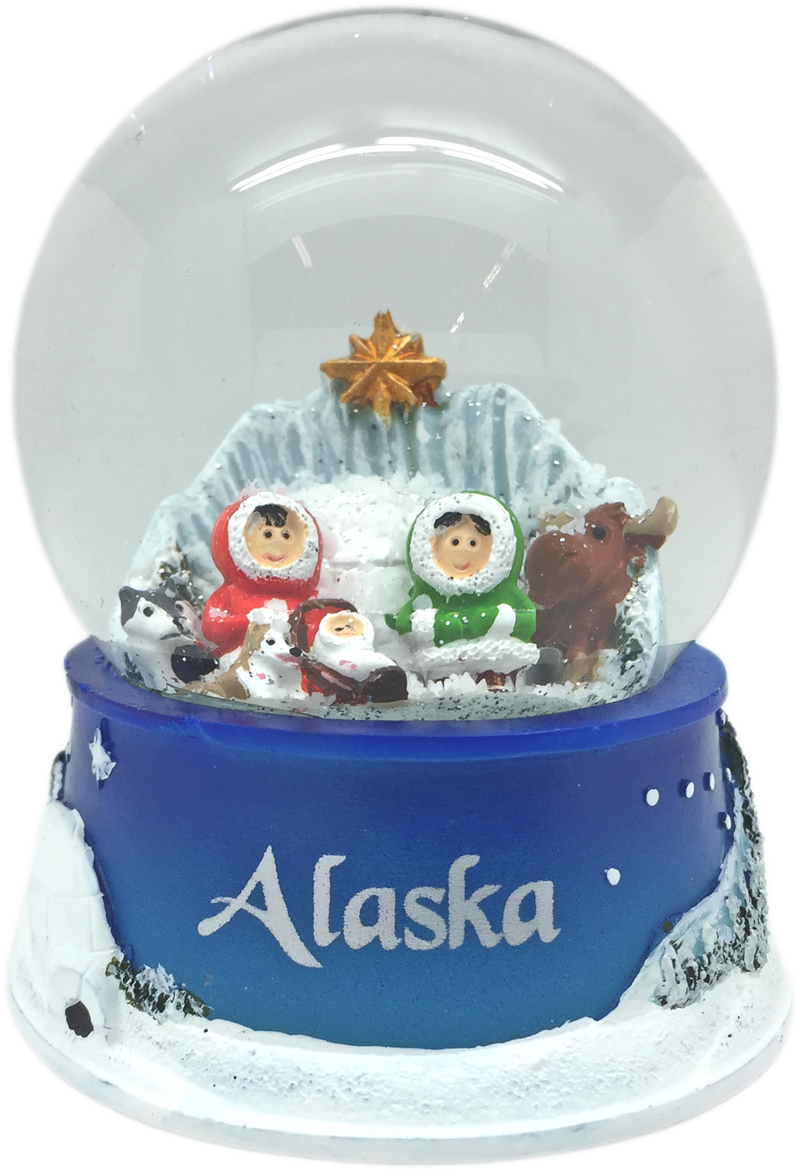 Alaska Eskimo Nativity Waterglobe