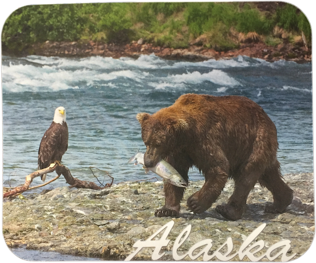 Bear & Eagle Alaska Mousepad