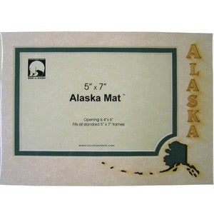 5 X 7 Alaska Map Photo Mat
