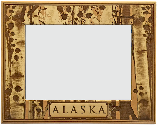 Birch Tree Alaska Wood Frame