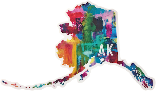 Multicolor AK Map Sticker