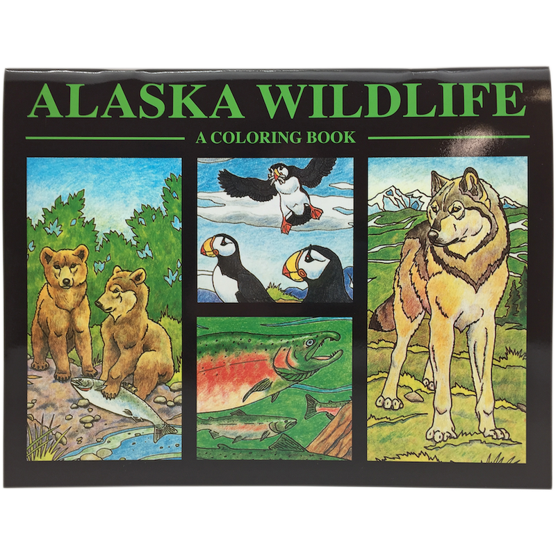 Alaska Wildlife Coloring Book