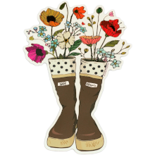 Xtratuf Boots with Wildflowers Sticker