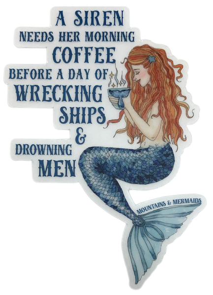 Siren's Brew Mermaid Sticker