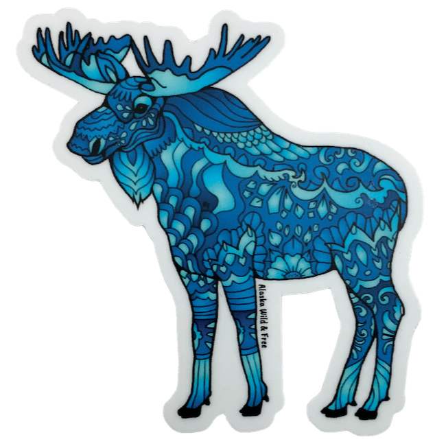 Blue Moose Sticker