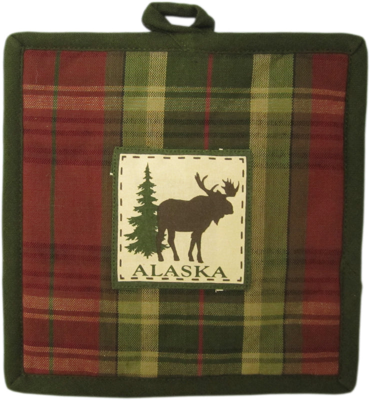 Plaid Moose Hot Pad