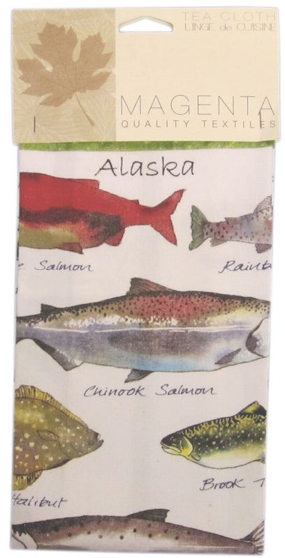 Fish Organic Cotton Tea Towel
