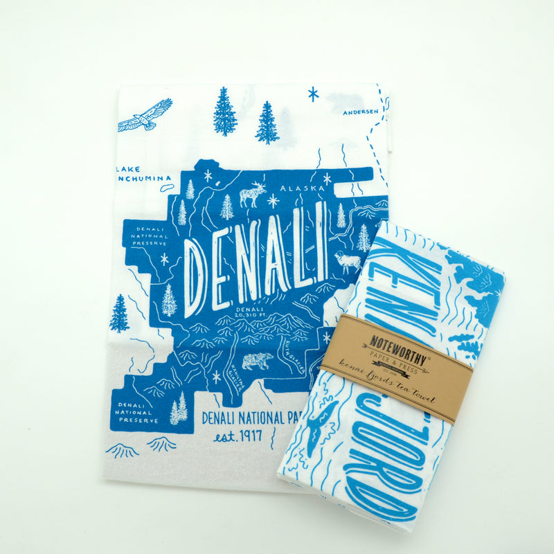 Denali National Park Alaska Tea Towel