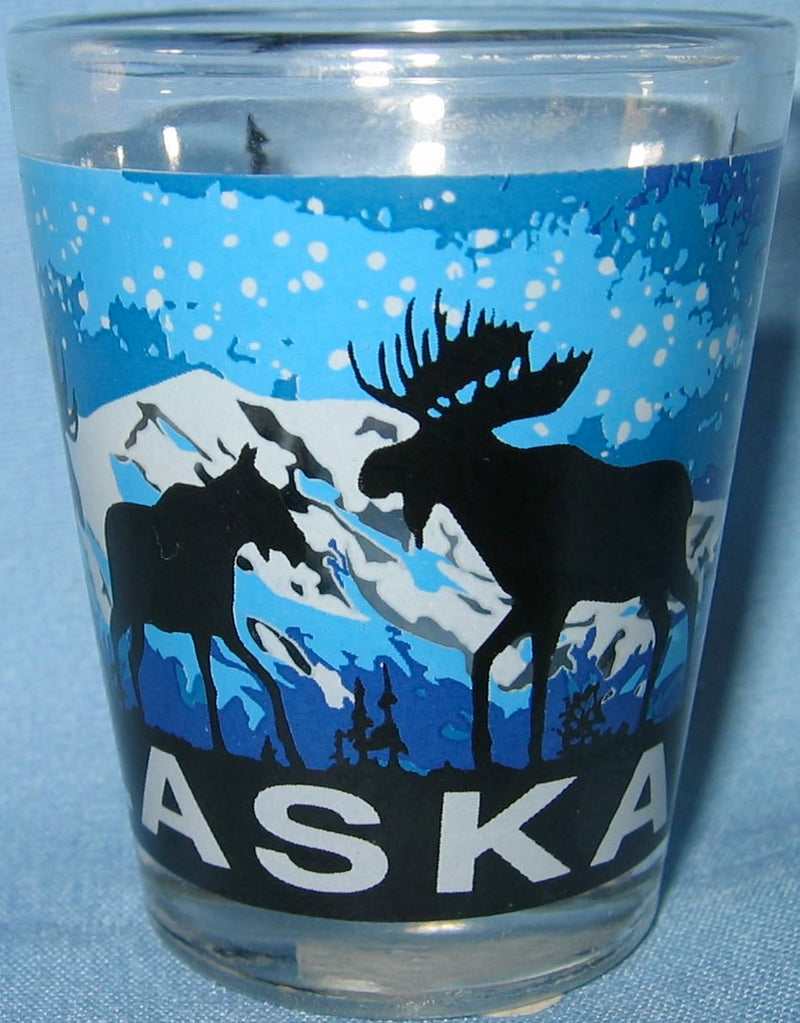 Midnight Moose Shot Glass