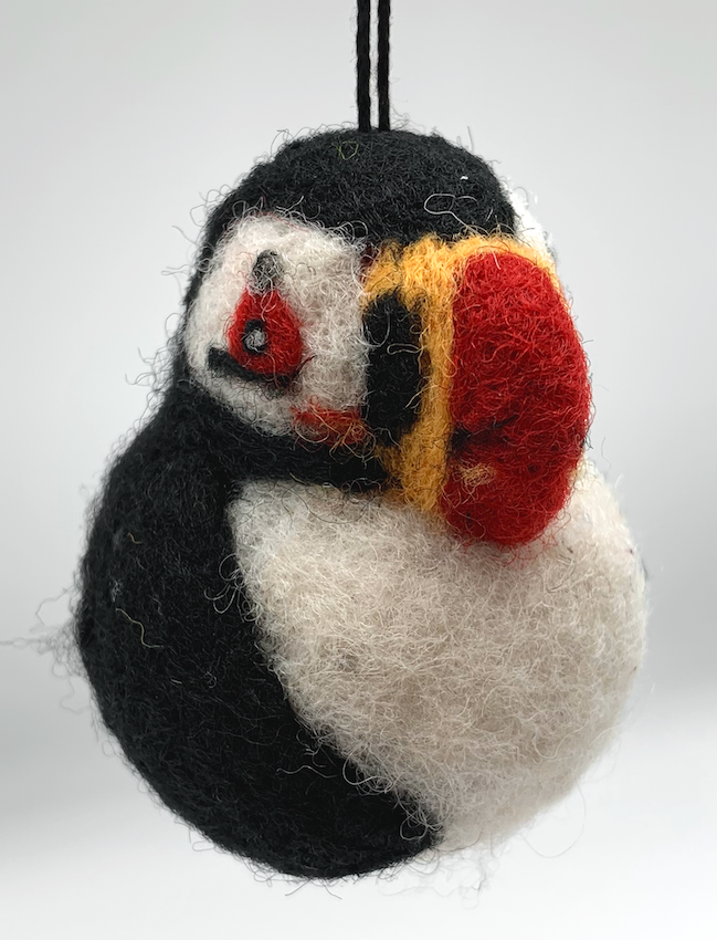 Puffin Wool Ornament