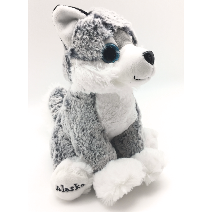 Big Eyed Sitting Husky Plush