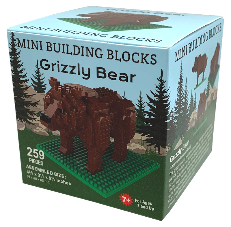 Grizzly Bear Mini Building Blocks