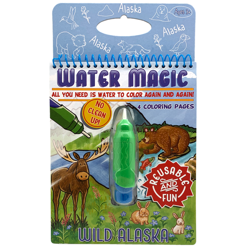 Water Magic Reusable Coloring Book