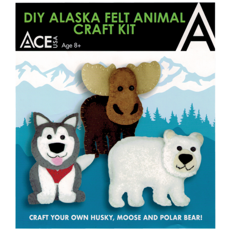 DIY Felt Alaskan Animals Craft Kit