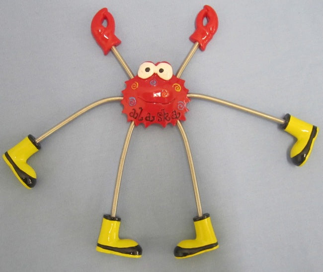 Spring Legged Crab Magnet With Boots