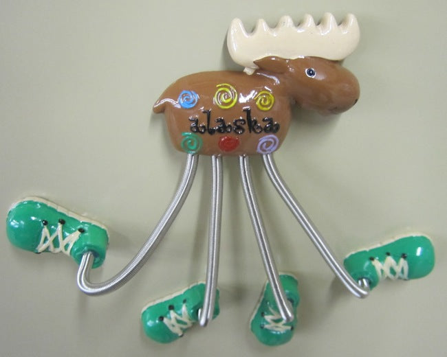 Moose Magnet With Magnetic Shoes