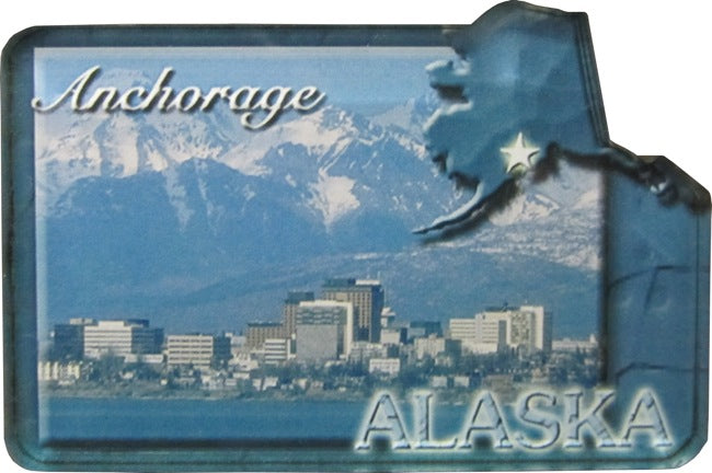 Anchorage Skyline Magnet
