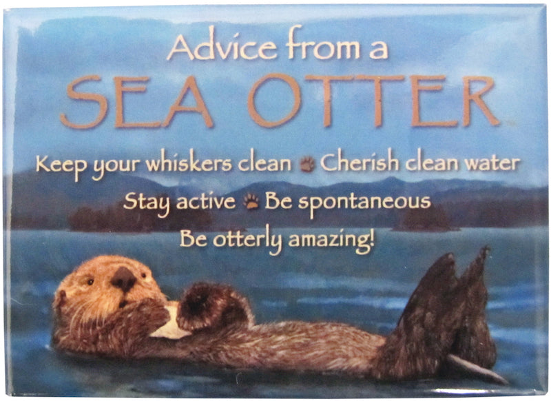 Advice From A Sea Otter Magnet
