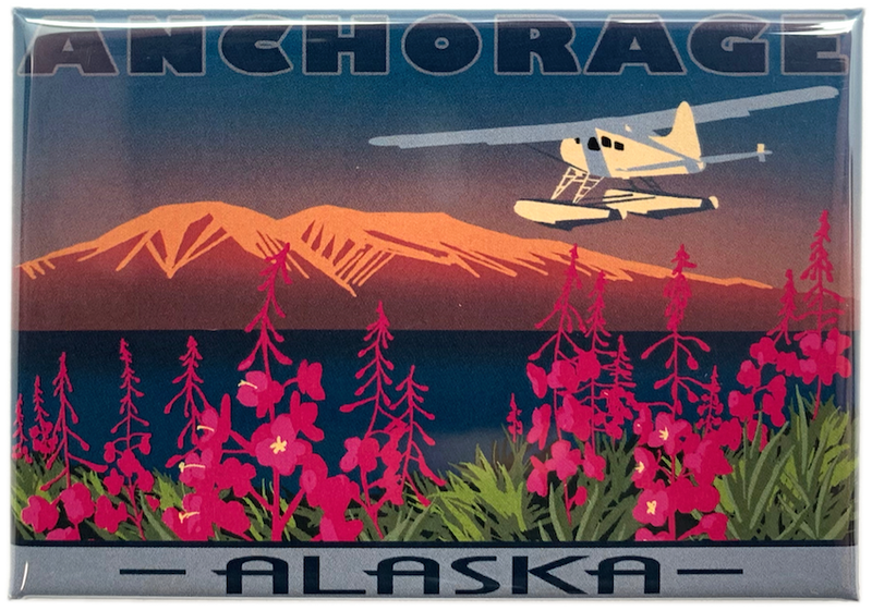 Anchorage Fireweed Magnet